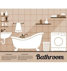Bathroom interior flat design vector