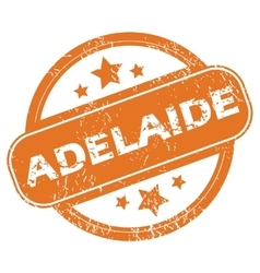 Adelaide round stamp vector