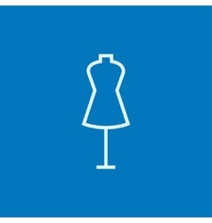 Mannequin line icon vector