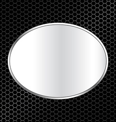 Abstract metal texture background with oval frame vector