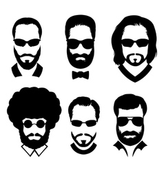 Beard and glasses vector