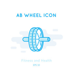 Ab wheel icon isolated on white vector