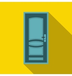 Blue door icon in flat style vector image