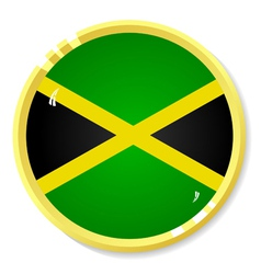 button with flag Jamaica vector image vector image