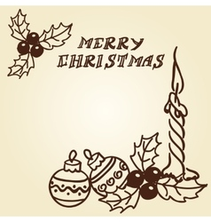 Christmas bells doodles vector image vector image