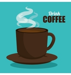 drink cup coffee hot graphic vector image vector image