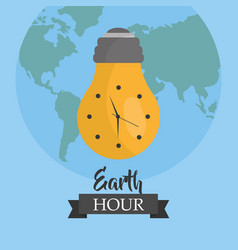 earth hour environment ecology campaign world vector image