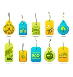 Ecology cardboard labels vector