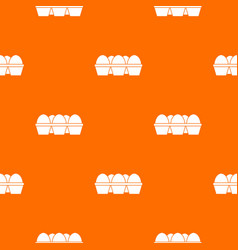 Eggs in carton package pattern seamless vector