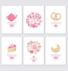 everyting for tea vector image vector image