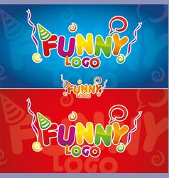 Funny logo - vector