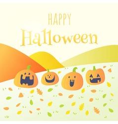 Happy halloween happy pumpkin card vector