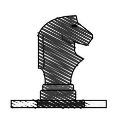 horse chess piece design vector image