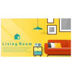 interior design with modern living room vector image vector image