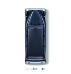 London Taxi vector image vector image