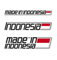 made in indonesia vector image