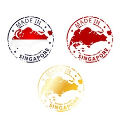 made in Singapore stamp vector image