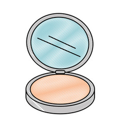 Makeup powder isolated icon vector