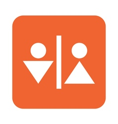 Man and Woman Toilet icon vector image