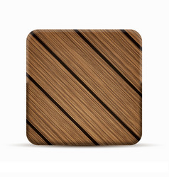 Modern wooden icon on white background vector