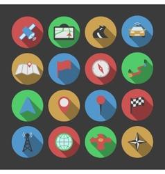 Navigation icon set vector