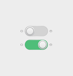 on off buttons vector image