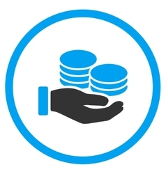 Salary flat icon vector