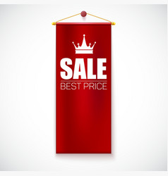 Sale Poster with vertical flag vector image