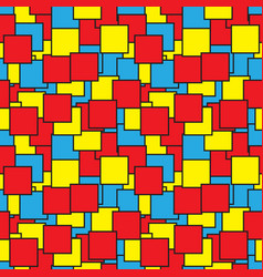 Seamless - colored squares outlines vector