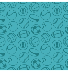 Seamless pattern with sport balls vector