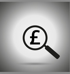 search money icon vector image vector image