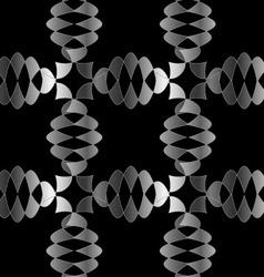 Silver Ornamental background vector image vector image
