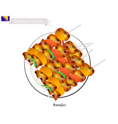 The famous food of bosnia and herzegovina vector