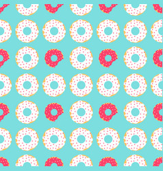 White and red donuts vector