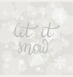 winter typographic lettering vector image