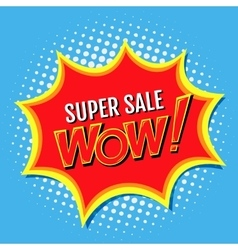 Super sale a banner in style of comics popart vector