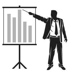Businessman making a presentation vector