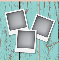 Instant vintage photos frames vector