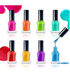 Nail polish assortment vector