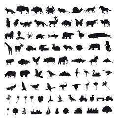 Set icons design elements vector image