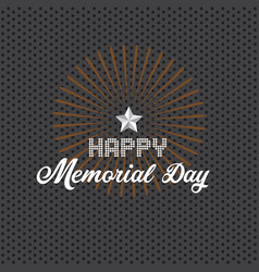 Memorial day background with white stars vector
