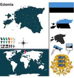 Estonia map world vector