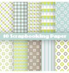 Pattern papers for scrapbook vector