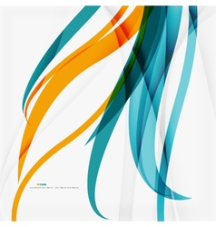 Modern blue and orange color shape composition vector