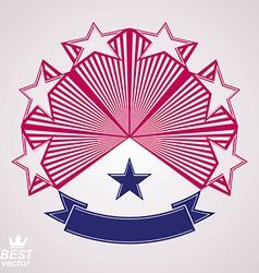 3d classic festive symbol with aristocratic stars vector