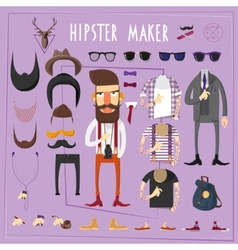 Hipster master creative constructor set vector