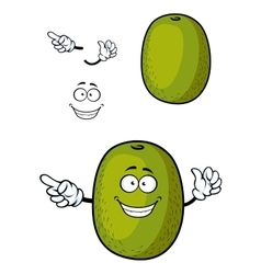 Happy cartoon kiwi fruit character with smile vector