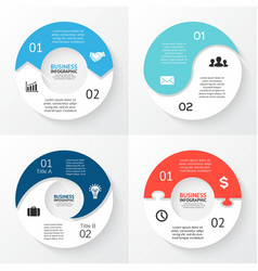 circle arrows infographic Template for vector image