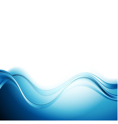 Bright blue abstract water waves design vector
