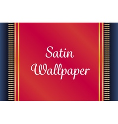 Red and gold satin or velvet mat or carpet on deep vector